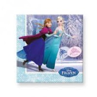 frozen ice skating paper napkins 33x33 cm