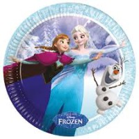 frozen ice skating paper plates large 23cm